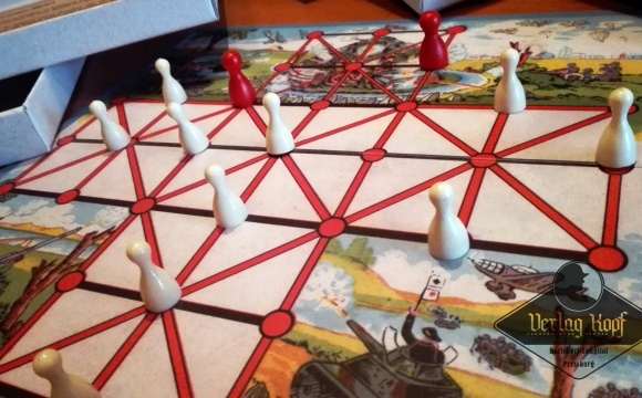 Very stylish board game for two players based on