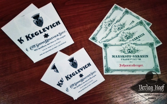 Set of mixed old wine labels.