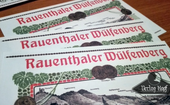 Interesting set of 9 labels suitable since WW1, and if you like old wines also in WW2 :)   3x Gebrüder Altenkirch - Rüdesheimer  3x Gebrüder Altenkirch - 1906er Niersteiner  3x Gebrüder Altenkirch - Rauenthaler Wülfenberg