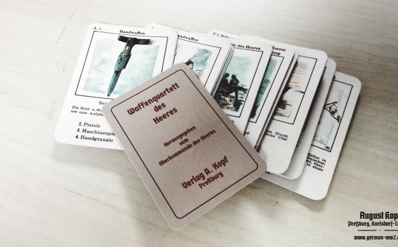 A very rare version of the card game with Wehrmacht topic.