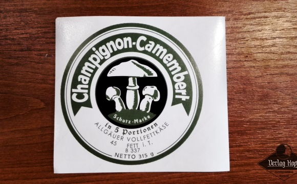 Another label sticker of the famous Camembert cheese is available for cheese weight 315g.