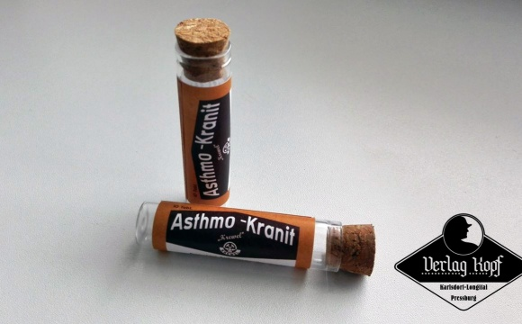 Authentic replica of Asthmo-Kranit (medicine tube box).