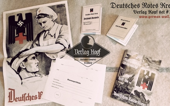 Interesting set with basic documents for Deutsche Rotes Kreuz members.