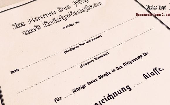 Dienstauszeichnung certificate for universal class.