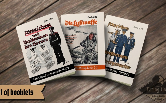 Very rare set containing 3 unique repro booklets.