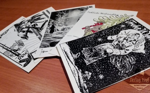 Updated set of Christmas postcards.