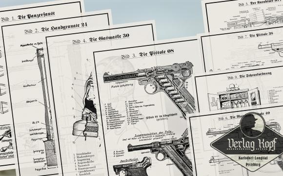 Complete set of eight Verlag Kopf instructional images.