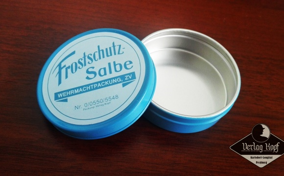 New tin for frost protection cream.
