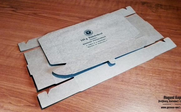 Cardboard package for popular Knäckebrot rations.