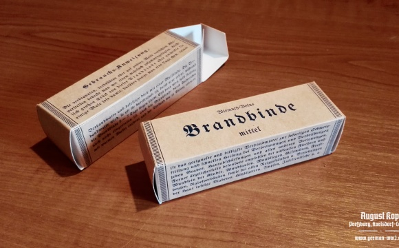 Brandbinde package box - dressing for burns.