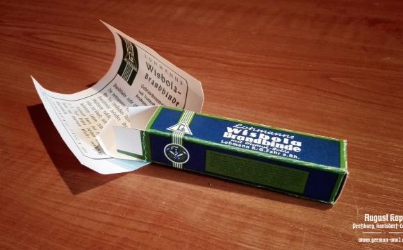 Wisbola Brandbinde package box - dressing for burns.