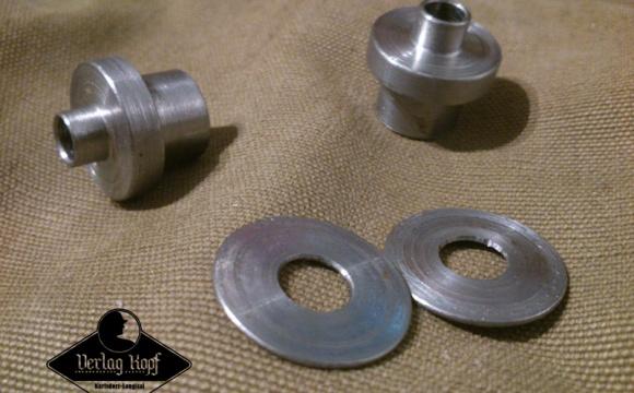 Metal parts for WW1 helmet restoration.