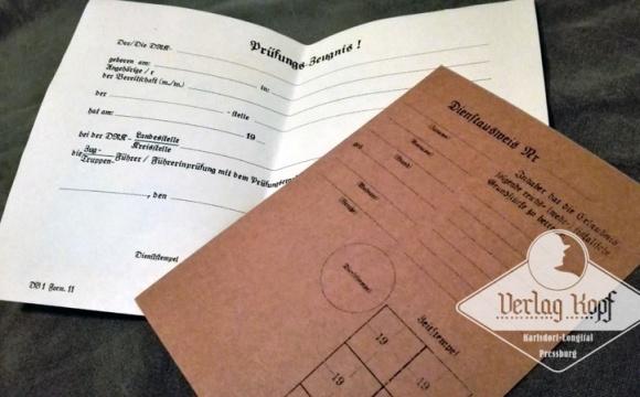 Nice set of two documents for Deutsche Rotes Kreuz Helferin.