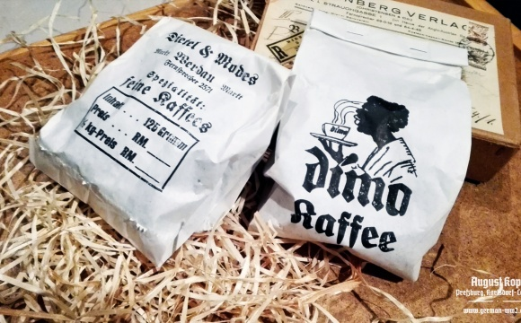 Interesting packages of imported Kaffee.