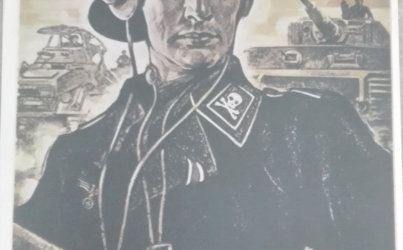 Popular Panzer commander poster.