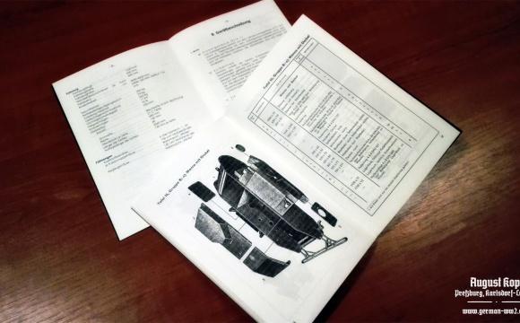 Unique reproduction of original manuals for Sd.