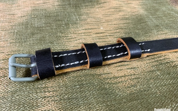 Leather mess kit strap of great quality.