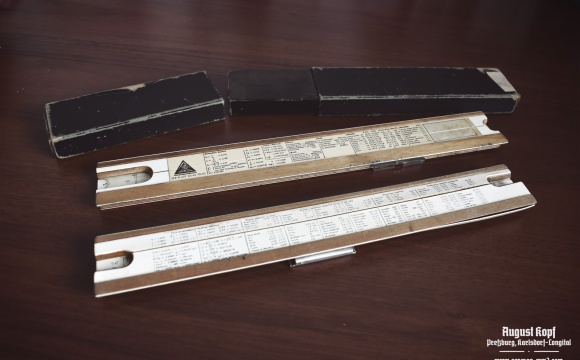 Nice set of two similar technical rulers around 1930-1960.