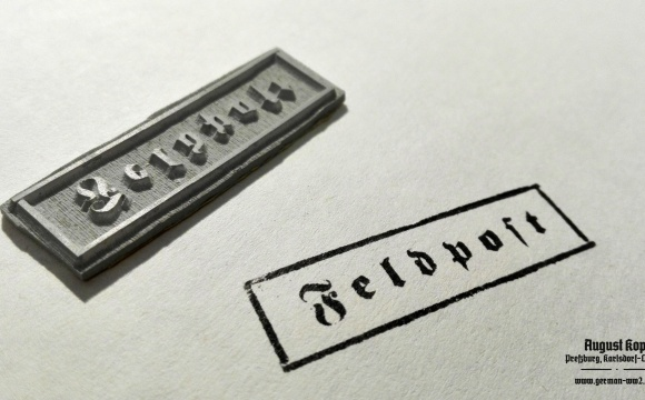Nice and universal stamp for letters and packages from field post.