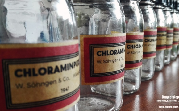 Chloramin powder was widely used and widely available substance.