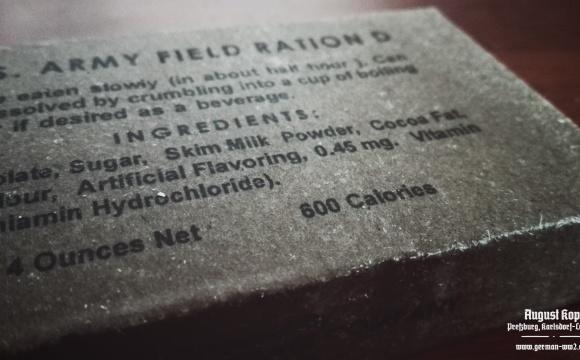 US 4OZ Chocolate Ration D