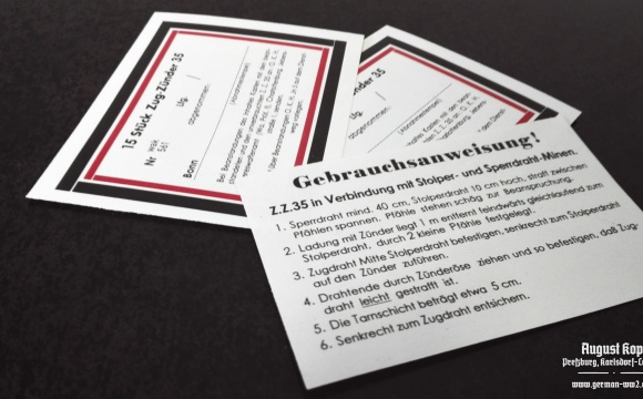 Set of paper labels for metal or paper box 15 Stück Zug-Zünder 35.