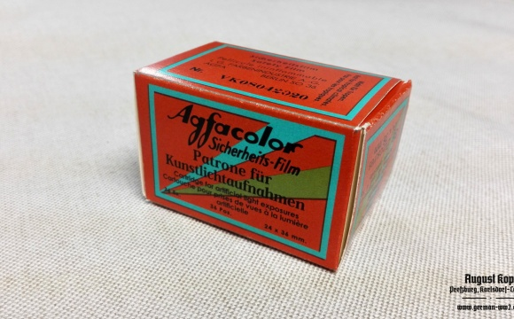 Nice cardboard package for Agfacolor Sicherheits-film 24x36mm, 36Ex.