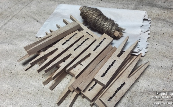 Nice set of wooden cloth pegs made of massive wood.
