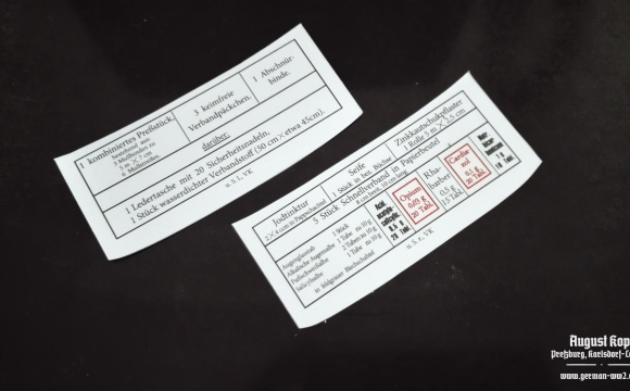 New set of inside labels for leather Sanitators pouches.