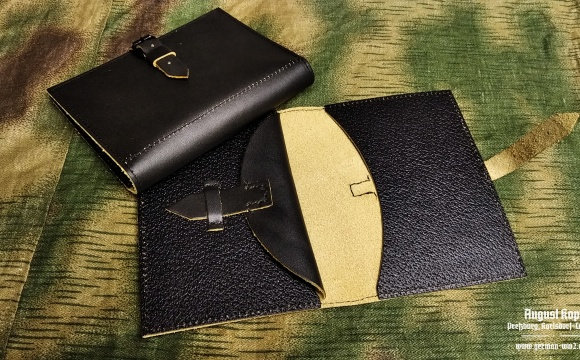 Army wallet suitable for carrying soldbuch and paper documents.