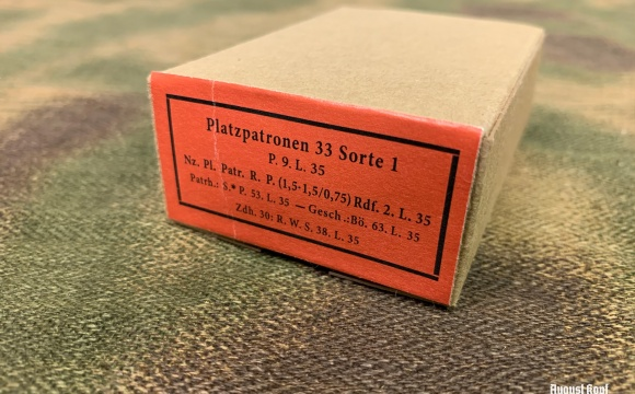 Common German WW2 ammo boxes used for 15 rounds of 8x57 bullets.