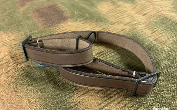 Great reproduction of leather chinstrap for WW1 or prewar transitional helmets.