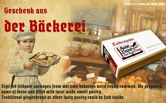 We made a huge pile of useful items, food, warm clothes, writing tools and some suitable Verlag Kopf products.