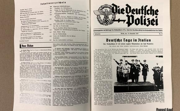 Prewar police magazine from November 1937.