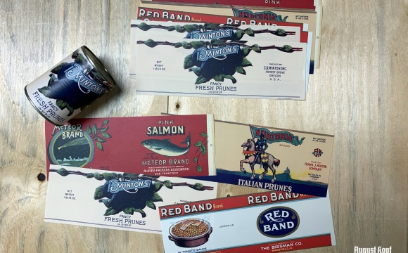 Reprint of vintage can designs.