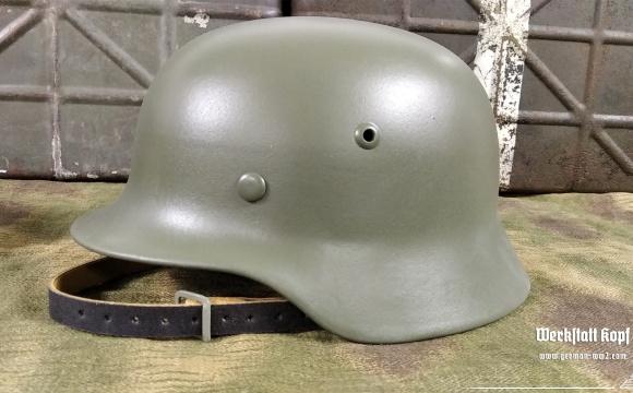 Original german WW2 helmet, restored for reenactment use.