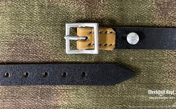 Stahlhelm riemen M31 in early version made of aluminium hardware.