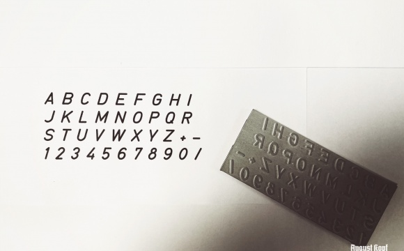 Technical DIN standard text font for creative customers that want to update their drawings and blueprints with markings or short descriptions.