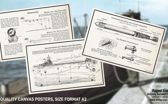 Attractive Kriegsmarine set based on original instructional illustrations.