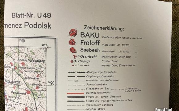 Deutsche Heereskarte Kamenez Podolsk