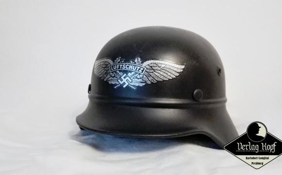 Popular beaded M40 Q64 helmet issued for Luftschutz units.