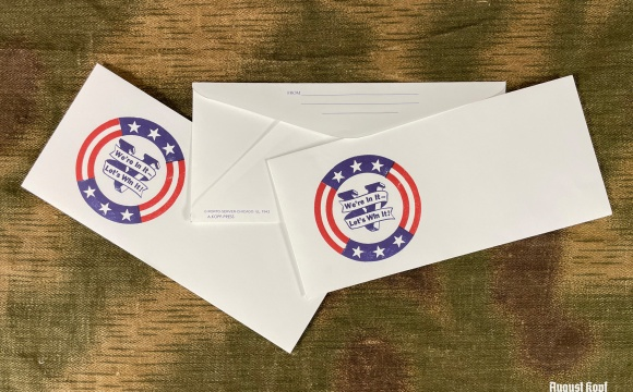 3x WW2 vintage envelope with Victory ilustration depicted.