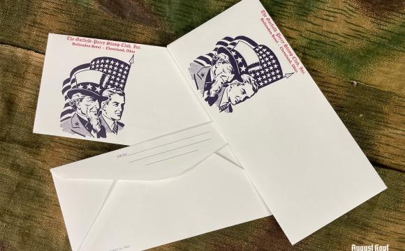 3x WW2 vintage envelope with national ilustration depicted.
