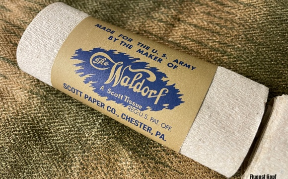Paper pack of WW2 US toilet paper ration.