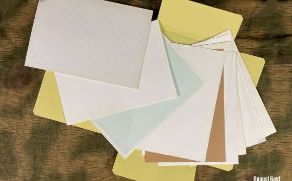 Various types of old stock paper.