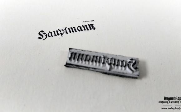 Rubber stamp: Hauptmann + Hpt. Komp. Chef