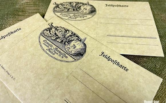 Set of postcards dedicated to specific unit Ersatz-Bataillon, Landw.