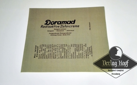 Very interesting german Radioaktive toothpaste Doramad Zahncreme.
