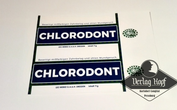 Interesting toothpaste Chlorodont, made in bigger size than another two types.