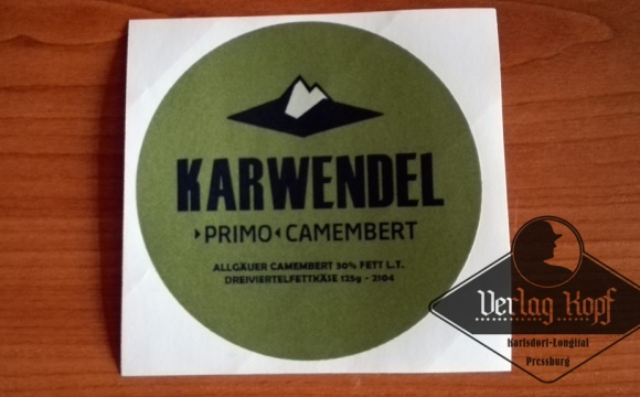 Another Camembert cheese label from Verlag Kopf production according the original ones.